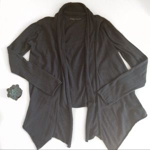 PrAna Charcoal Gray Cardigan Yoga Wrap XL